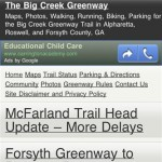 BigCreekGreenway.com Mobile Site Launched