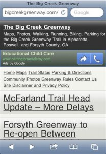 Big Creek Greenway Mobile Screen Shot