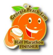 Georgia Peach Jam Half Marathon Finisher Medal