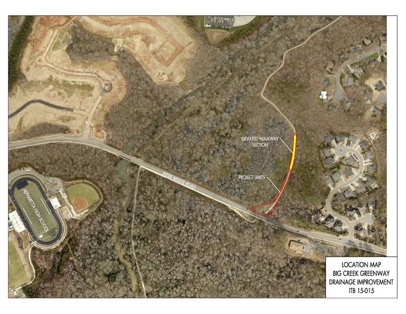 Alpharetta Big Creek Greenway Drainage Improvement Map