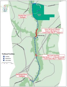 Two Areas of Forsyth County Big Creek Greenway Closing for Summer