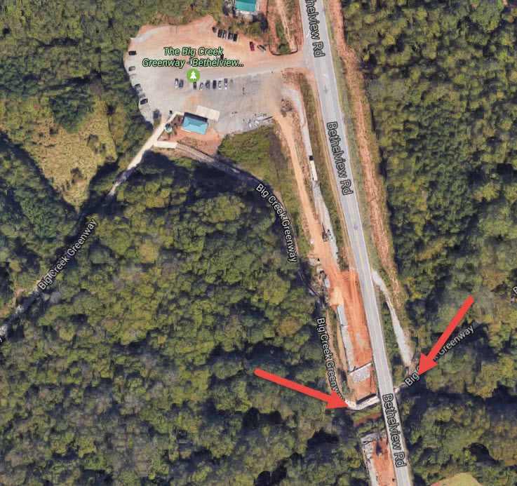 Forsyth Greenway Periodic Closures at Bethelview Road